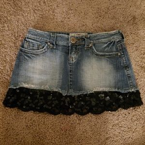 Jean Lace Skirt